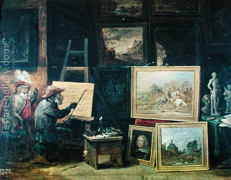 Huge version of The Monkey Painter, 1805