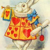 Oil painting reproductions - Animals - John Tenniel: The White Rabbit, illustration from Alice in Wonderland by Lewis Carroll 1832-9