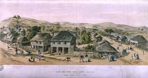 Neo-Classical painting reproductions: Free Town, Sierra Leone, south west view, pub. by Ackermann and Company