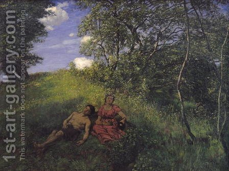 Siesta, 1889 by Hans Thoma - Reproduction Oil Painting