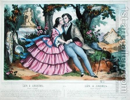 The Four Loves, Conjugal Love by (after) Thomas, Napoleon - Reproduction Oil Painting