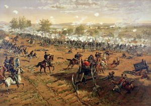Futurism painting reproductions: Battle of Gettysburg, 1863, printed by L. Prang and Co., 1887