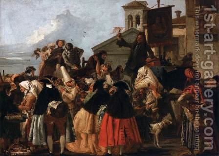 The Tooth Extractor, c.1754 by Giovanni Domenico Tiepolo - Reproduction Oil Painting