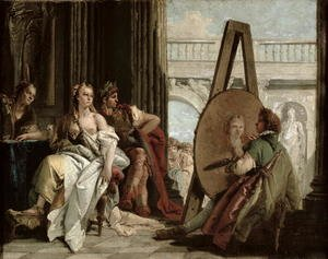 Rococo painting reproductions: Alexander and Campaspe at the house of the painter Apelles