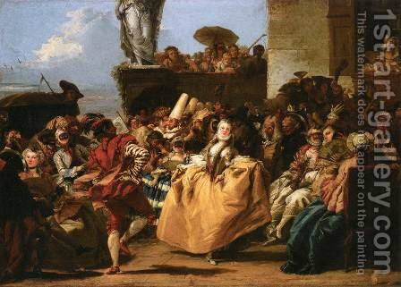 The Minuet or Carnival Scene by Giovanni Domenico Tiepolo - Reproduction Oil Painting