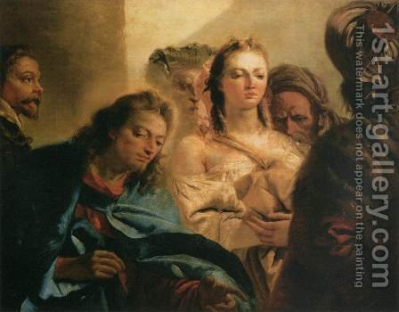 Christ and the Adulteress, 1751 by Giovanni Domenico Tiepolo - Reproduction Oil Painting