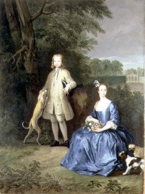Famous paintings of Couples: Portrait of Master Edward and Miss Mary Macro, c.1733
