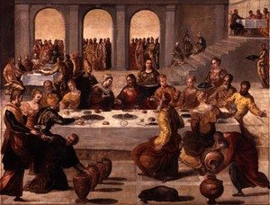 Mannerism painting reproductions: The Wedding Feast at Cana, c.1545