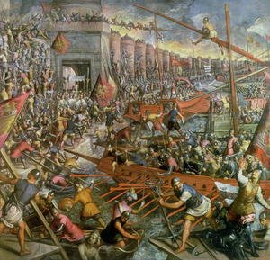 Mannerism painting reproductions: The Capture of Constantinople in 1204