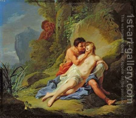 Acis and Galatea, 1758 by Johann Heinrich The Elder Tischbein - Reproduction Oil Painting
