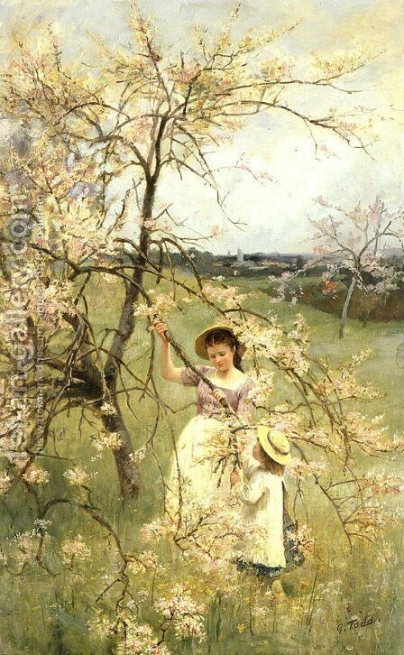 Spring, c.1880 by Henry George Todd - Reproduction Oil Painting