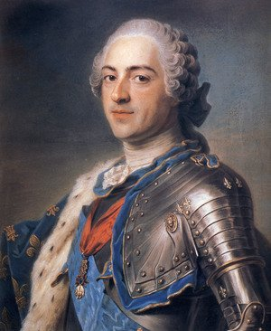 Famous paintings of Portraits: Portrait of King Louis XV 1710-74 1748