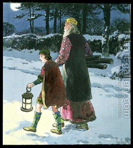 King Wenceslas c.907-c.929 from Peeps into the Past, published c.1900 by - Trelleek - Reproduction Oil Painting