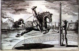 A Horse en Capriole from New Treatise for Breeding Horses written by Winters, Stuterey and Reit-Schul, engraved by the artist, pub. 1672