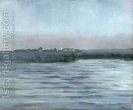 Chiemsee, 1874 by Heinrich Wilhelm Truebner - Reproduction Oil Painting