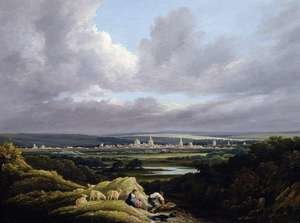 Neo-Classical painting reproductions: View of Oxford from a Distance