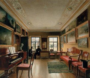 Neo-Classical painting reproductions: Interior of a Manor House, 1830s