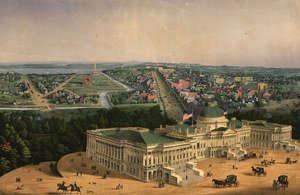 Neo-Classical painting reproductions: View of Washington, pub. by E. Sachse & Co., 1852