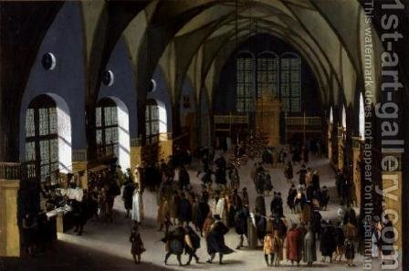 The Prague Stock Exchange by Aegidius Sadeler or Saedeler - Reproduction Oil Painting