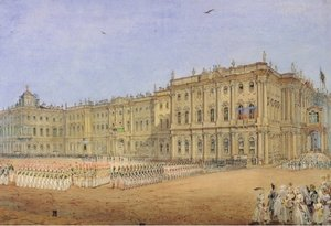 Neo-Classical painting reproductions: Review at the Winter Palace in St. Petersburg, 1840s
