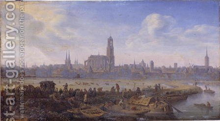 View of Utrecht, 1664 by Herman Saftleven - Reproduction Oil Painting