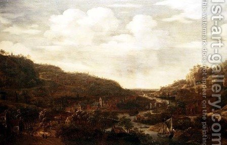 Rhineland View by Herman Saftleven - Reproduction Oil Painting