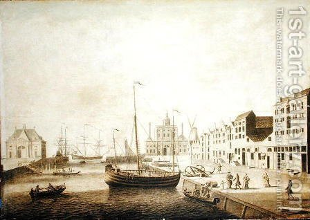 View of the Leuvehaven by Adriaen or Abraham Salm - Reproduction Oil Painting
