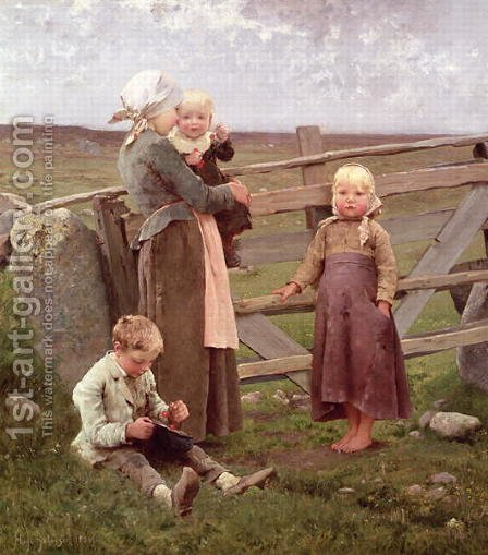 The Dalby Gate, Skane, 1884 by Hugo Federick Salmson - Reproduction Oil Painting