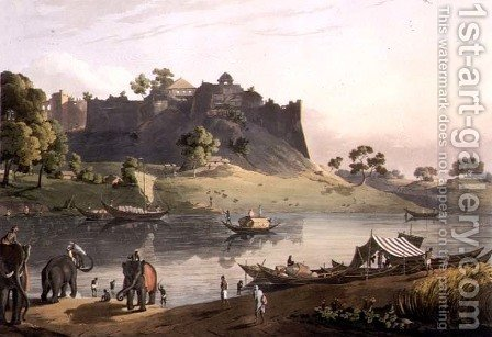 Ruins of the Fort at Juanpore on the River Goomtee, plate V, engraved by Daniel Havell 1785-1826 1809 by (after) Salt, Henry - Reproduction Oil Painting