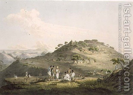 The Town of Dixan in Abyssinia, engraved by Daniel Havell 1785-1826 1809 by (after) Salt, Henry - Reproduction Oil Painting