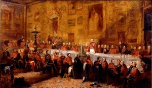 Romanticism painting reproductions: The Waterloo Banquet, 1836