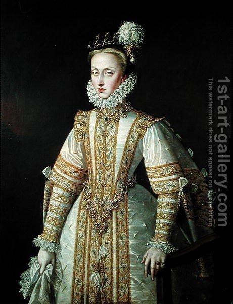 Huge version of Anne of Austria 1549-80 Queen of Spain, c.1571