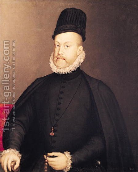 Alonso Sanchez Coello: Portrait of Philip II 1527-98 c.1580 - reproduction oil painting