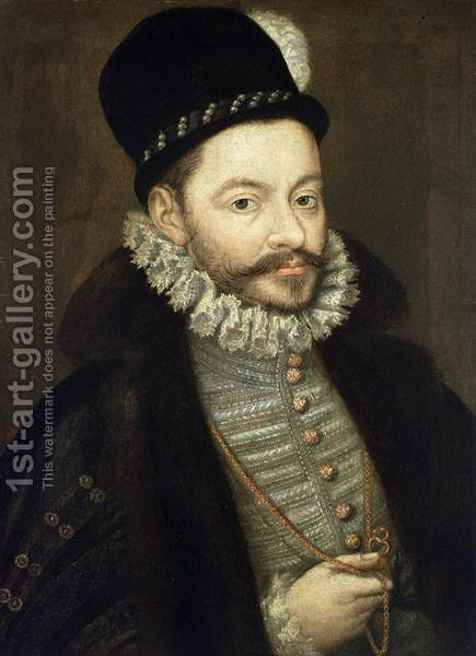 Alonso Sanchez Coello: Portrait of Antonio Perez 1539-1611, Secretary of Felipe II - reproduction oil painting