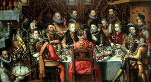 Reproduction oil paintings - Alonso Sanchez Coello - The Banquet of the Monarchs, c.1599