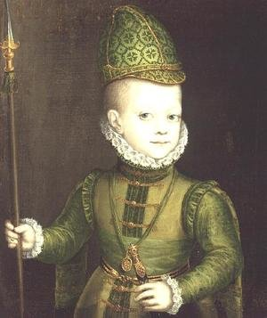 Reproduction oil paintings - Alonso Sanchez Coello - The Infante Don Felipe, c.1580