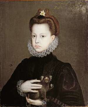Reproduction oil paintings - Alonso Sanchez Coello - Infanta Isabella Clara Eugenia, Daughter of Philip II of Spain