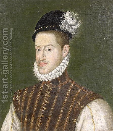 Portrait of Emperor Rudolf II 1552-1612 before 1576 by Alonso Sanchez Coello - Reproduction Oil Painting