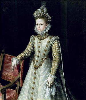 Reproduction oil paintings - Alonso Sanchez Coello - The Infanta Isabel Clara Eugenie 1566-1633 1579