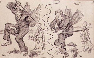Famous paintings of Golf: Frustration on the Golf Course, illustration from Graphic magazine, pub. c.1870