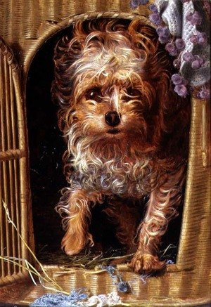 Pre-Raphaelites painting reproductions: Darby, a Yorkshire Terrier