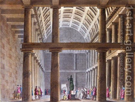 The Interior of the Parthenon, illustration from Le Costume Ancien ou Moderne by Jules Ferrario, engraved by G. Castellini, Milan 1821 by Alessandro Sanquirico - Reproduction Oil Painting