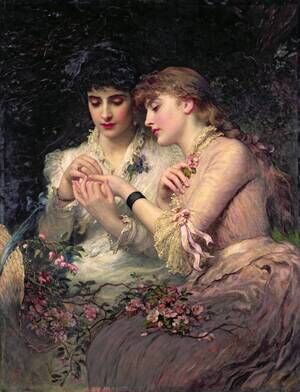 Academic Classicism painting reproductions: A Thorn Amidst Roses, c.1887