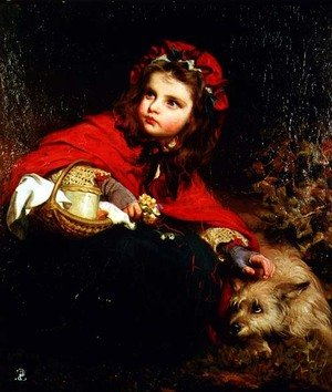 Academic Classicism painting reproductions: Little Red Riding Hood