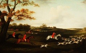 Neo-Classical painting reproductions: Hunting Scene