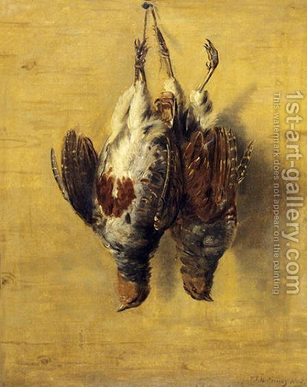 Brace of English Partridge, 1808 by J. Francis Sartorius - Reproduction Oil Painting