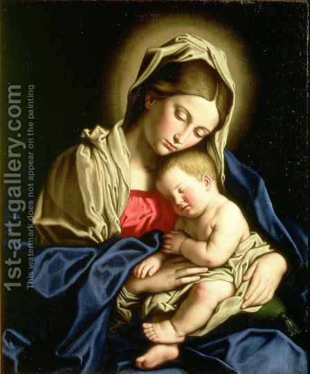 Madonna and Child 4 by Francesco de' Rossi (see Sassoferrato) - Reproduction Oil Painting