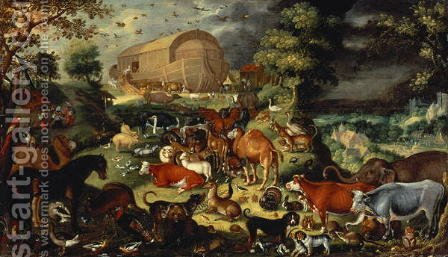 The Animals Entering the Ark by Jacob II Savery - Reproduction Oil Painting