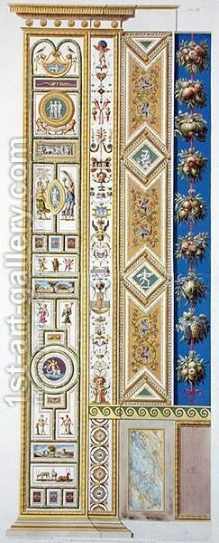 Panel from the Raphael Loggia at the Vatican, from Delle Loggie di Rafaele nel Vaticano, engraved by Giovanni Ottaviani c.1735-1808 published c.1772-77 by (after) Savorelli, G. and Camporesi, P. - Reproduction Oil Painting