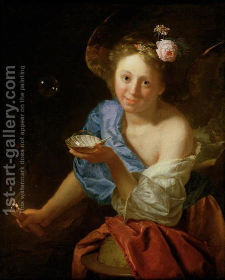 Allegory of Fortune by Godfried Schalcken - Reproduction Oil Painting